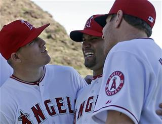 Albert Pujols, Mike Trout, Josh Hamilton