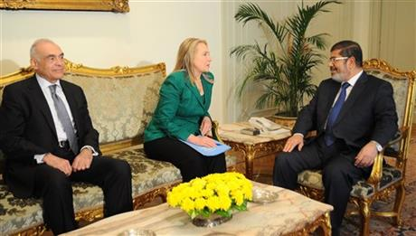 Hillary Rodham Clinton, Mohammed Morsi, Mohammed Kamel Amr