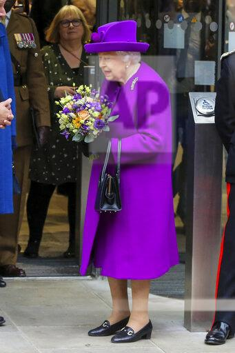 The Queen visits Royal National Throat and Eastman Dental Hospitals in central London, UK - 19 Feb 2020