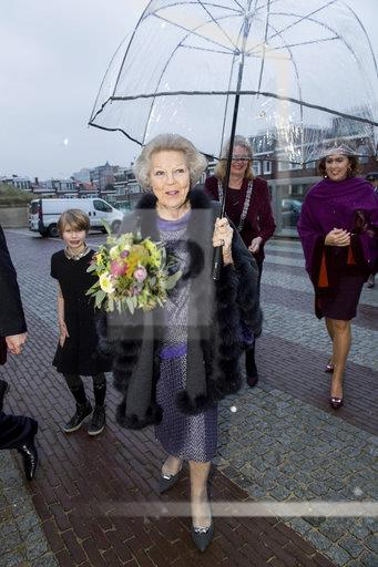 Princess Beatrix opens the exhibition Utopia. The Hague, The Netherlands 09 feb 2018