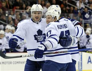 Leo Komarov, mark Fraser, Cody Franson