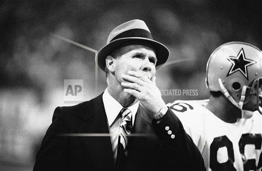 Watchf AP S  TX USA APHS273574 Dallas Cowboys coach Tom Landry   Reacting