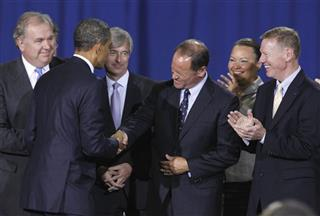 Barack Obama, Doug Speck, John Mendel, Lisa Jackson, Alan Mulally