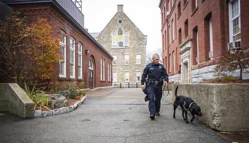 Newest members of many college police departments: Bomb dogs