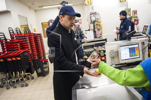 Agrounia Farmers protest against incorrect labelling of Vegetables in Warsaw, Poland - 18 Feb 2020