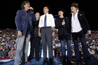 MItt Romney, Randy Owen, Meat Loaf, John Rich, Big Kenny