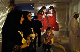 APTOPIX Mideast Emirates Khaliji Fashion