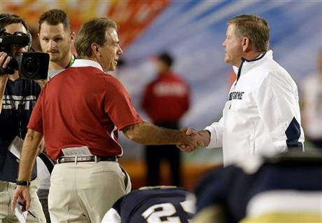Brian Kelly, Nick Saban