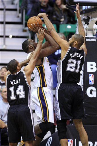 Tim Duncan, Gary Neal, Al Jefferson