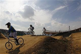 APTOPIX Britain BMX Supercross World Cup