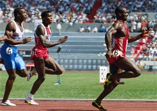 Ben Johnson, Carl Lewis, Linford Christie