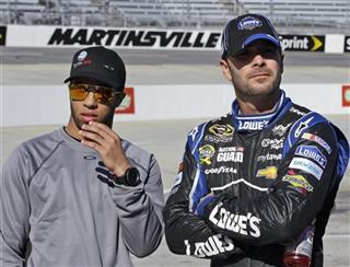 Jimmie Johnson, Darrell Wallace Jr.
