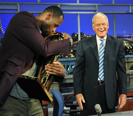 LeBron James, David Letterman