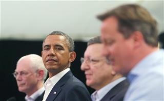 David Cameron, Barack Obama, Herman Van Rompuy, Jose Manuel Barroso