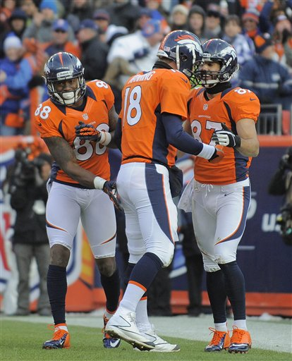 Eric Decker, Peyton Manning, Demaryius Thomas