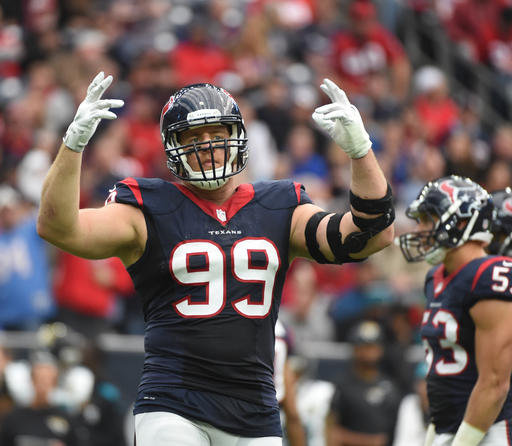 Texans Watt Injured Football