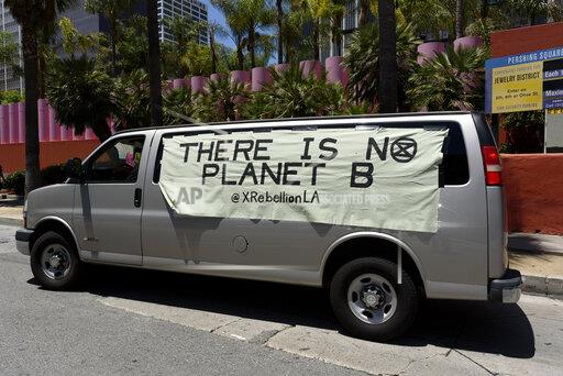 Climate Strike Protest in Los Angeles, USA - 24 May 2019