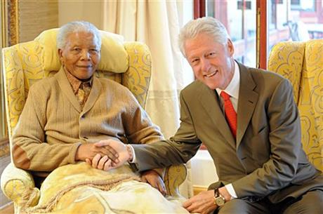 Nelson Mandela, Bill Clinton