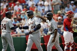 Miguel Cabrera, Austin Jackson, Torii Hunter, Erik Kratz