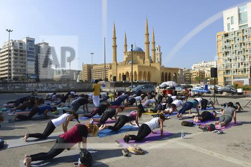 Yoga '108 Sun Salutations' on Martyrs Square - Beirut