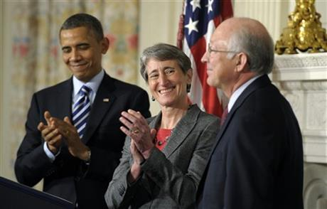 Barack Obama, Sally Jewell, Ken Salazar