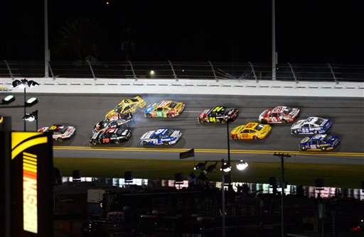 Denny Hamlin, Jimmie Johnson, Kyle Busch, Jeff Gordon, Kevin Harvick, Joey Logano, Mark Martin, Martin Truex Jr., Carl Edwards, Greg Biffle, Kurt Busch