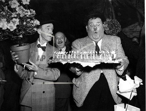 Associated Press International News France Entertainment, celebrities LAUREL AND HARDY