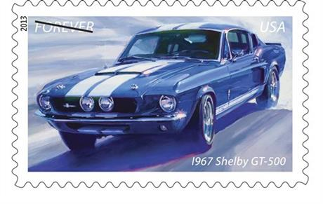 NASCAR Muscle Car Stamps Auto Racing