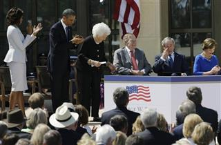 Michelle Obama, Barack Obama, Barbara Bush, George H.W. Bush, George W. Bush, Laura Bush