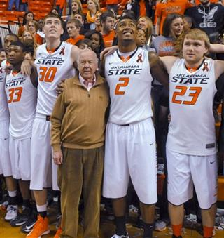 T. Boone Pickens,  Marcus Smart,Mason Cox, Le&#039;Bryan Nash,  Alex Budke