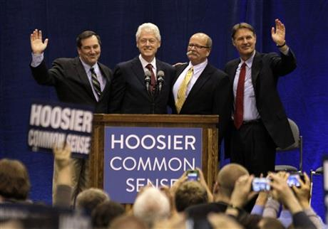 Bill Clinton, Joe Donnelly, Evan Bayh, John Gregg