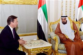 David Cameron, Khalifa bin Zayed at al Nahyan