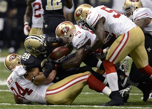 Mark Ingram, Justin Smith, NaVorro Bowman