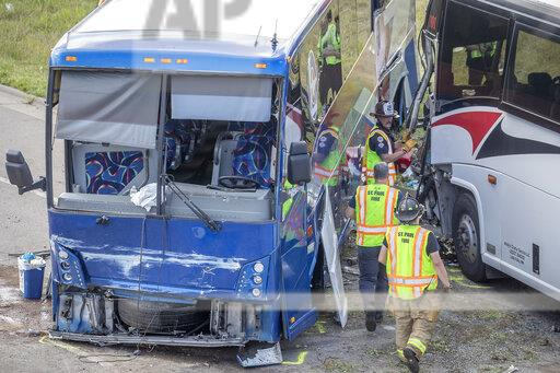 Tour Buses Crash