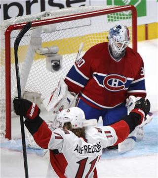 Daniel Alfredsson, Peter Budaj,