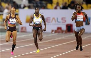 Amantle Montsho,Christine Ohuruogu, Allyson Felix