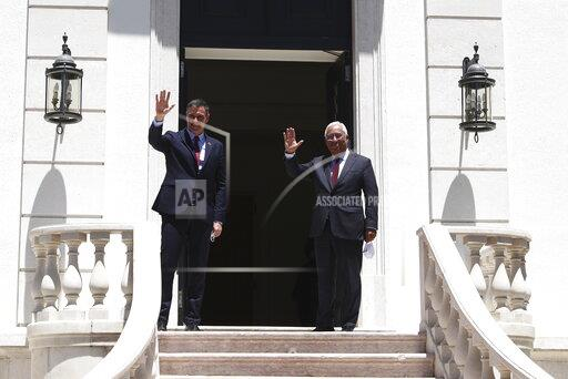 Meeting between Pedro Sánchez and the Prime Minister of Portugal, António Costa