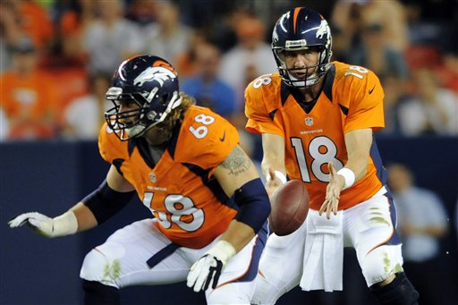 Zane Beadles,  Peyton Manning