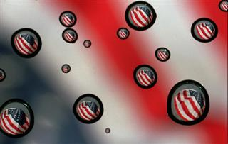 FLAGS, WATER DROPS