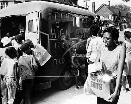 Watchf Associated Press Domestic News  Michigan United States APHS12635 Food Relief In Riot Torn Neighborhood 1967