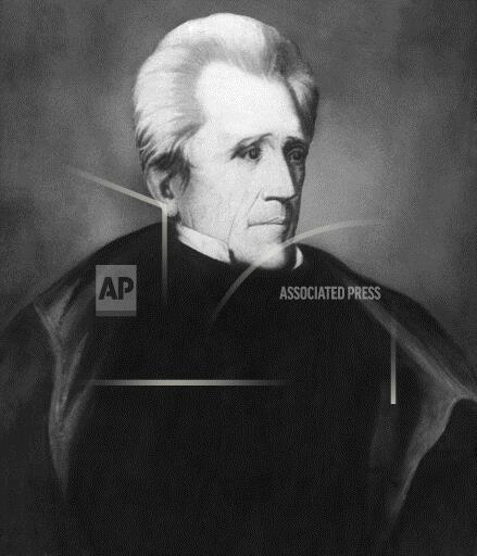 Watchf Associated Press     APHS110828 Andrew Jackson Portrait