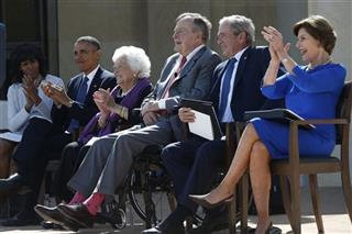 Barack Obama, George W. Bush, Laura Bush, George H.W. Bush, Barbara Bush