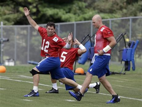 Andrew Luck, Chandler Harnish , Matt Hasselbeck