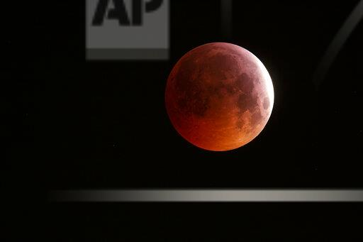 Germany, Frankfurt on Main, total lunar eclipse