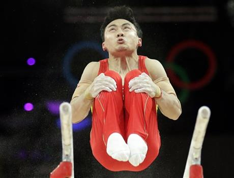 US cruises to lead in men's gymnastics qualifying
