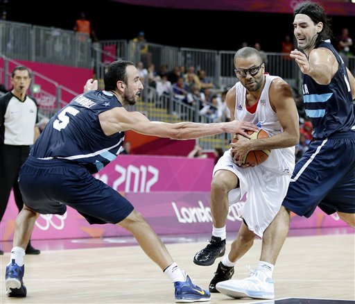 Tony Parker, Luis Scola, Pablo Prigioni