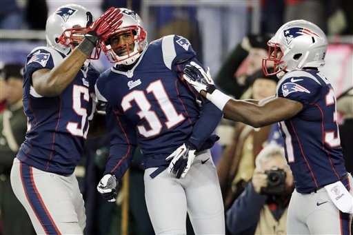Aqib Talib, Jerod Mayo, Alfonzo Dennard