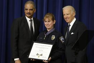 Joe Biden, Eric Holder, Julie Olson