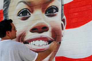 Gabby Douglas Mural