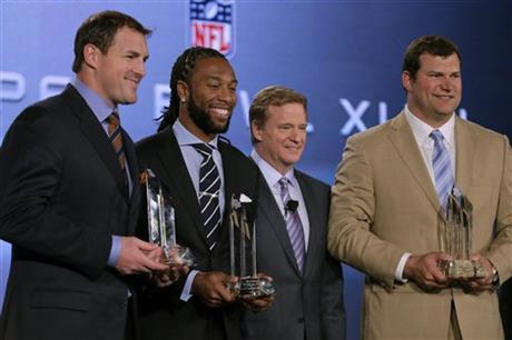 Roger Goodell, Larry Fitzgerald, Jason Witten, Joe Thomas